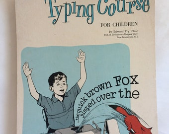 Vintage Book Typing Course for Children