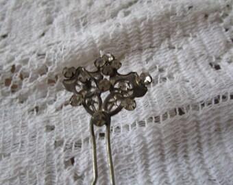 Reduced - Vintage Rhinestone Hair Pin