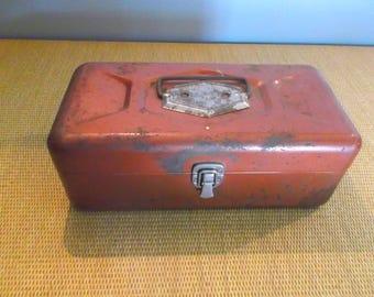 Vintage Copper-Colored Tackle Box