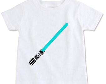 Jedi Lightsaber Toddler Cotton T-shirt
