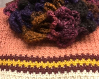 Super Bulky Infinity Scarf Shell Pattern