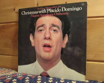 Placido Domingo - Christmas With Placido Domingo - Vienna Symphony Orchestra - 33 1/3 Vinyl Record
