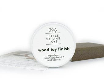 Beeswax and Jojoba Oil Wood Toy Care Kit - Organic - Wooden Toys - Wood Finish
