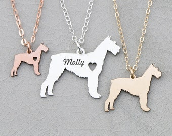 Schnauzer Necklace • Dog Gift • Custom Dog Necklace • Dog Lover Gift • Gold Dog Pendant • Schnauzer Gift Pet Gift Schnauzer Charm