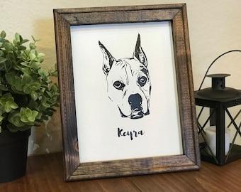 Custom Pet Portrait Canvas