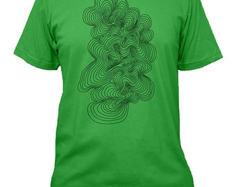Geometric Shirt - Geometric Topographic Map Mens Tshirt - 4 Colors Available - Mens T Shirt - Gift Friendly