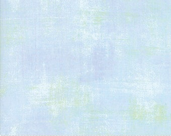 Moda Grunge Basics CLEAR WATER Light Blue Green Mottled Background Fabric 30150-406 BTY