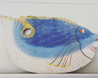 Paint Palette Fish Shape Wall Decor