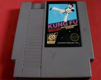 Original vintage NES game cartridge, Kung Fu, Tested working