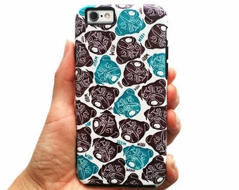 The Barking Pug Phone Case for iPhone 8, 7, 6, 5, 5c & Samsung Galaxy S7, S8