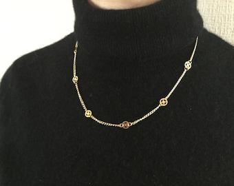 Steampunk gold chain