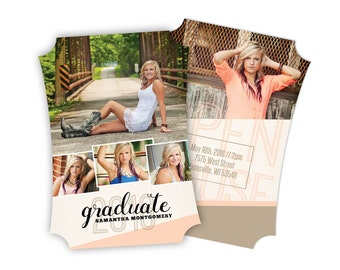 Peach Dream - Boutique Senior Card (25 pack)