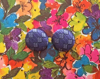 Fabric Covered Button Earrings / Wholesale Jewelry / Vintage Inspired Accessories / Stud Earrings / Gifts / Made in NYC / Boutique Stock