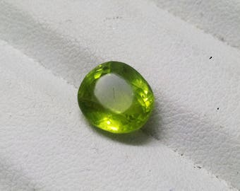 Natural 3.25 Ct Peridot Oval Shape, Good Quality Loose Gemstone, August Birthstone, Astral Gem, Healing stone