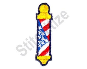 American Barber Pole - Machine Embroidery Design