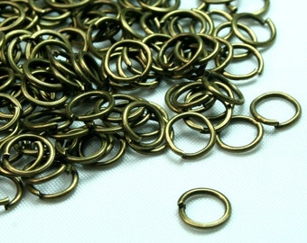 100 pcs 5mm Antique Brass Open Jump Ring JRO-AB5