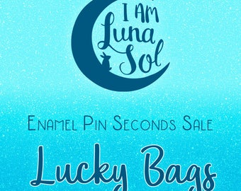 Enamel Pin Seconds Sale Lucky Bags (3 Pins) // hard enamel, surprise, mystery, lapel Pin, badge, brooch, kawaii, cute, grab, discount, sale