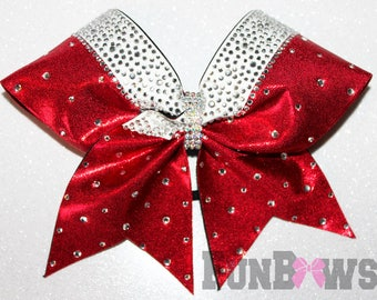 Gorgeous Red Allstar  Rhinestone Cheer Bow  by FunBows ! - Customize it !