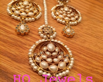 Kundan Earrings & tikka