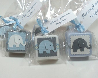 Elephant baby shower favors boy, baby shower favor soaps - Choose your own colors