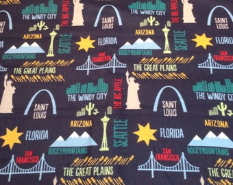 Preorder: American Cities Infinity Scarf, New York, Statue of Liberty, St Louis
