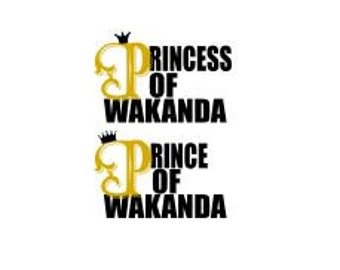 Prince and Princess of Wakanda