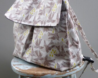 Backpack Diaper Bag - Custom Fabric - 4 Pockets - Adjustable Straps