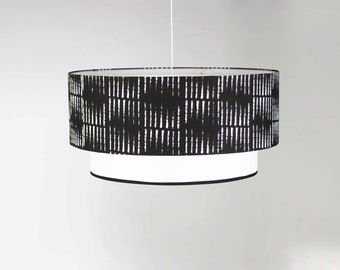 Lamp shade hanging double