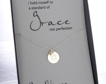 Inspirational Strength Jewelry Birthday Gift Spiritual Jewelry Grace Necklace Yoga Necklace Inspirational Retirement Gift Thank you Gift