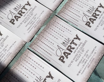 Printable Birthday Invite - Glitz & Glamour Design