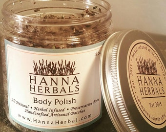 Lavender Salt Scrub - Organic Salt Scrub - Herbal Scrub - Dry Skin Relief - Organic Lavender
