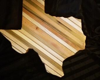 Texas Shaped butcher Block Cutting board