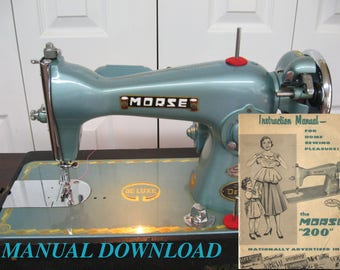 MORSE 200 Sewing Machine manual Precision Deluxe Owners Manual PDF White HA1 Toyota Made in Japan