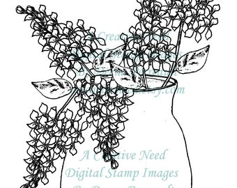 INSTANT download LILACS Digital Stamp Image for your Scrapbooking, card making, ATC's, Art, Mixed Media