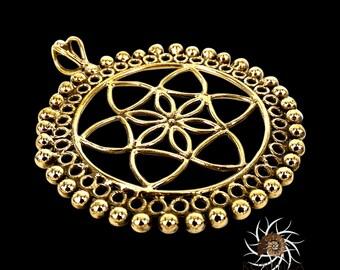 Brass Pendant - Ethnic Pendant - Gypsy Pendant - Brass Jewelry - Ethnic Jewelry - Gypsy Jewelry - Brass Tribal Pendant