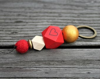 Key ring for couples, lovers, with heart, wedding, anniversary, engagement, wedding,