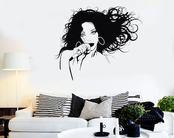 Wall Vinyl Decal Singer Singer Girl Pop Rock Music Mural 2249di