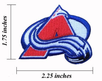 """Colorado Avalanche Logo Size 2.25"""" Embroidered Iron 1 Patches"""