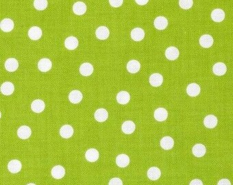Mini patchwork polka dot green 54cmx22 cm fabric coupon