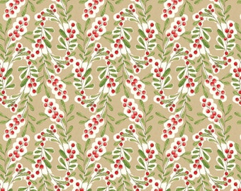 Merry Stitches - Much Joy in Beige by Cori Dantini for Blend Fabrics