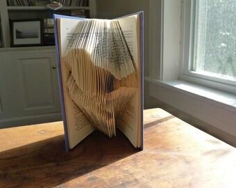 Bird Book Sculpture - Folded  Book Art - Unique Handmade Gift - Altered book - Bird Lover - Book Lover