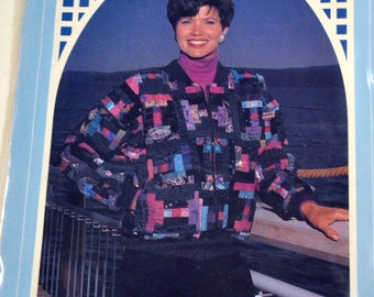 Sewing Pattern Back Porch Press Log Wild Jacket  Uncut  Complete Size 8-22 Bust 30-44 inches