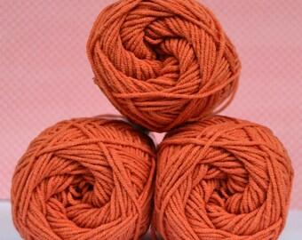 Kacenka - soft cotton/acrylic yarn for crochet and knitting, Cinnamon color, No. 7264, 1 ball/50 g, Producer NCT
