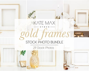 Gold Frames Styled Stock Photo / Product Mockup / 29 Styled Stock Photography / KateMaxStock Photography
