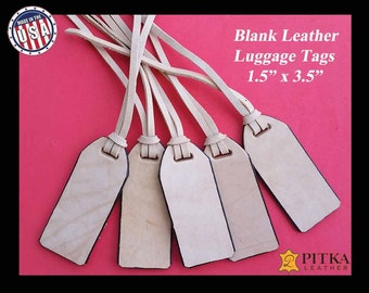 Luggage Leather Tags Blank - Natural Leather Blanks Luggage Tags - Craft LeatherTags - Wholesale Luggage Tags  - As low as US 2.90 per tag