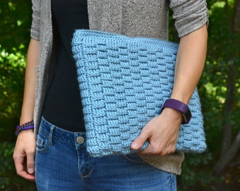 Microsoft Surface Pro 4 Case: Laptop sleeve, computer bag, crochet case, tablet case, laptop cover, zipper pouch. Gift for him, gift for her