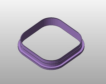"""Square cookie cutter w/ rounded corners - 3.5"""""""