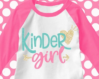 kindergarten svg, kindergarten shirt, kinder girl svg, back to school svg, iron on, printable, digital, transfer, DXF, EPS, svg, kinder svg