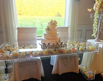Mr & Mrs Freestanding Wooden Sign - ALL COLORS - Glitter option - table decoration or candy buffet, place cards ect