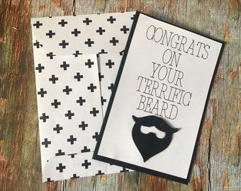 handmade card - Terrific Beard